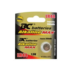 Baterie centrum Alkalická gombíková batéria LR44 1,5V