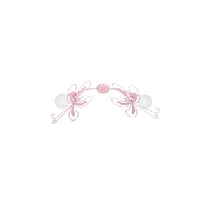 Luminex Detské stropné svietidlo MOTÝĽ 2xE27/60W ružová