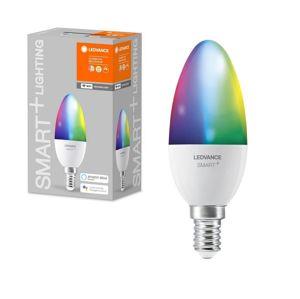Ledvance LED RGB Stmievateľná žiarovka SMART+ E14/5W/230V 2700K