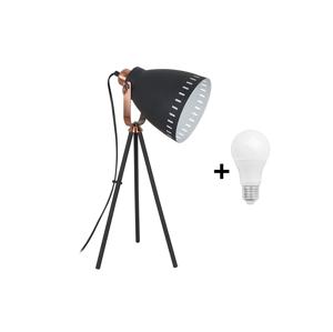 Solight LED Stolná lampa 1xE27/10W/230V čierna 52cm