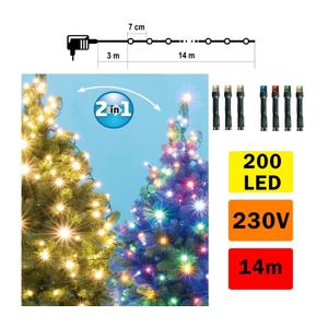 FK Technics LED Vianočná reťaz vonkajšia 200xLED/230V IP44