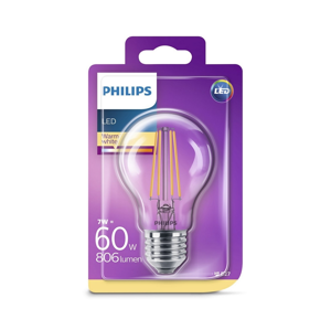 Philips LED Žiarovka Philips VINTAGE A60 E27/7W/230V 2700K
