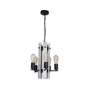Luminex Luster GERA 5xE27/60W/230V čierna