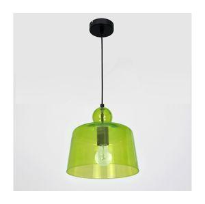 Luminex Luster na lanku BELL 1xE27/60W/230V zelená
