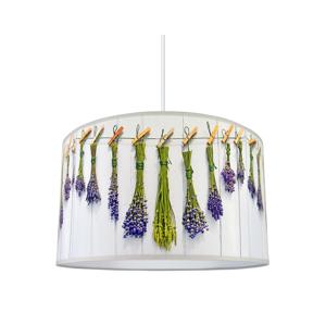 Lampdar Luster na lanku FLOWERS 1xE27/60W/230V