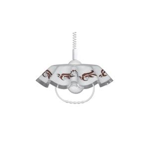 Helam Luster sťahovací AKRYL FA 1xE27/60W ornament hnedý