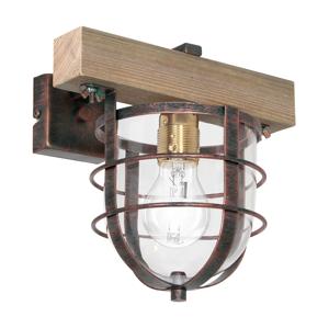 Luminex Nástenné svietidlo ANDER 1xE27/60W/230V svetlohnedá