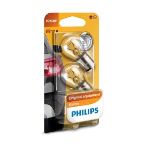 Philips SADA 2x Autožiarovka Philips VISION 12594B2 BAZ15d/4W/12V