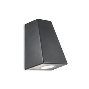 Polux Vonkajšie nástenné svietidlo BOSTON 2xGU10/20W IP44 hranaté čierna