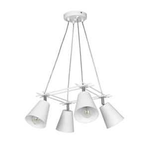 Luminex Závesné svietidlo FERRIS 4xE27/60W biele