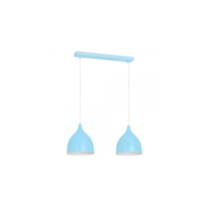 Luminex Závesné svietidlo NOAK YOUNG 2xE27/60W/230V modrá